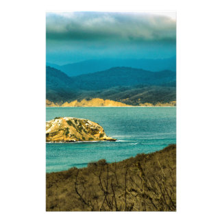 Mountains and Sea at Machalilla National Park Stationery