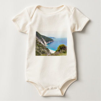 Mountains and sea in greek bay baby bodysuit