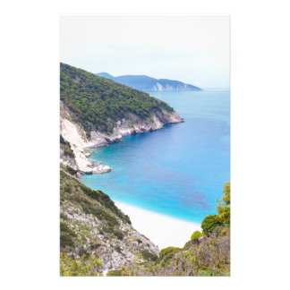 Mountains and sea in greek bay customized stationery