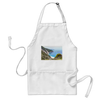 Mountains and sea in greek bay standard apron