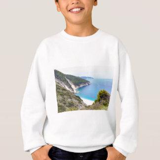 Mountains and sea in greek bay sweatshirt