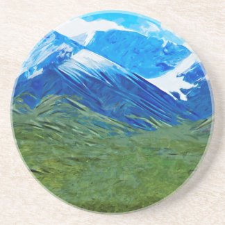 Mountains and Sky of Denali Alaska Abstract Coaster