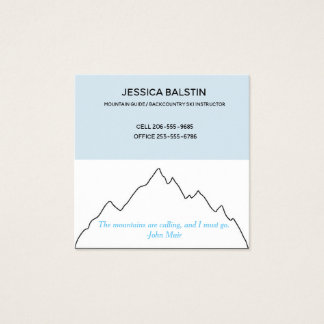Mountains are Calling business card