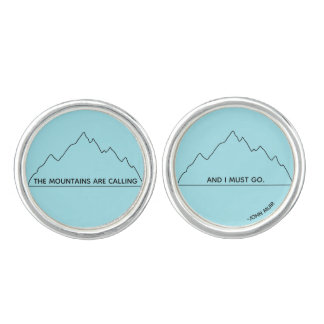 Mountains are Calling cufflinks