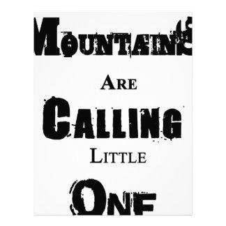 Mountains Are Calling Little One Letterhead