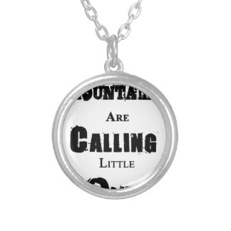 Mountains Are Calling Little One Silver Plated Necklace