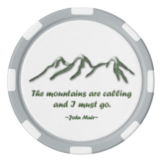Mountains are calling/Snow tipped mtns Poker Chips