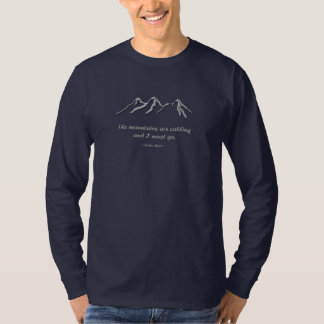 Mountains are calling snowy blizzard tees