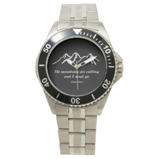 Mountains are calling Snowy Mountain Design Watch