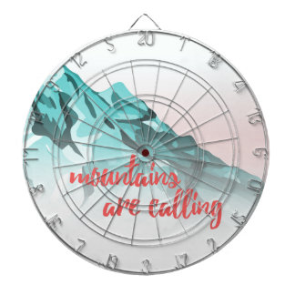 Mountains Are Calling Typography Design Dartboard