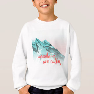 Mountains Are Calling Typography Design Sweatshirt