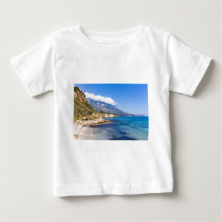 Mountains at coast  with sea in Kefalonia Greece Baby T-Shirt