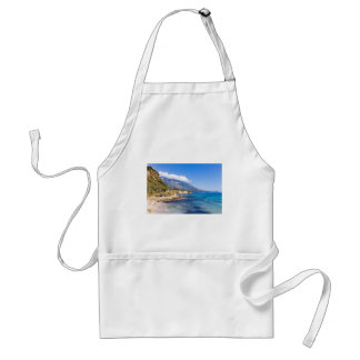 Mountains at coast  with sea in Kefalonia Greece Standard Apron