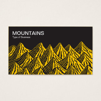 Mountains - Black with Amber Business Card