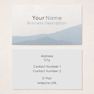 Mountains Business Card