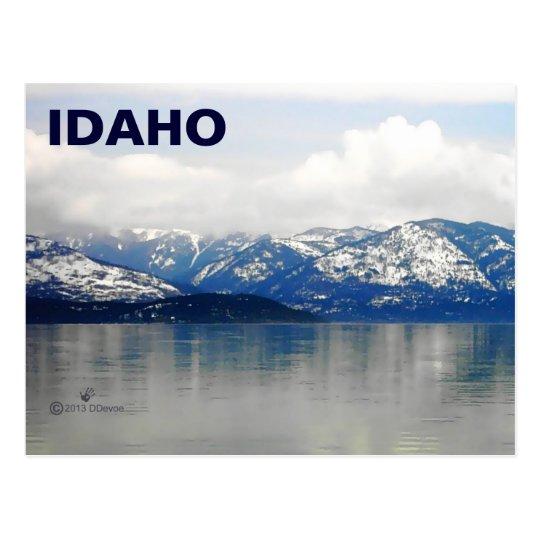 Mountains By The Lake Postcard
