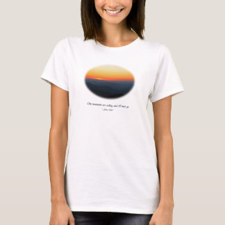Mountains Calling/Smokies Sunset Oval T-Shirt