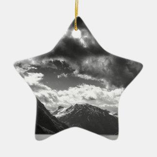 Mountains Ceramic Ornament