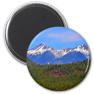Mountains Flagstaff Arizona 2 Inch Round Magnet