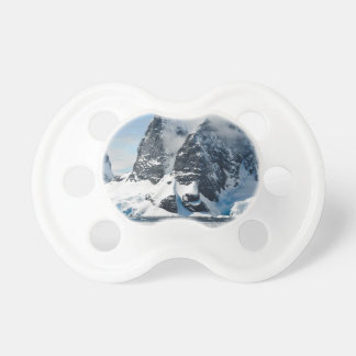 mountains ice bergs pacifier