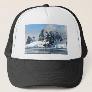mountains ice bergs trucker hat