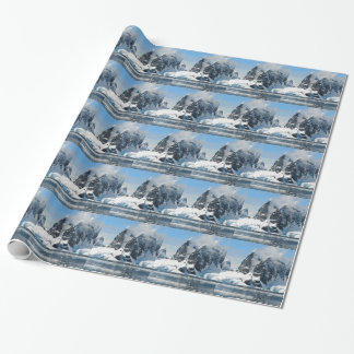 mountains ice bergs wrapping paper