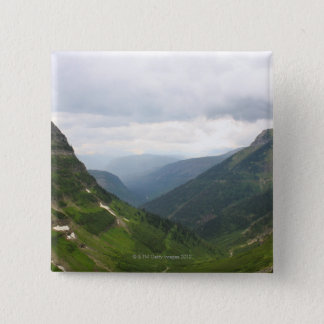 Mountains in Glacier National Park 2 Inch Square Button