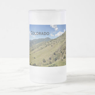 mountains in Morrison Colorado Frosted Glass Beer Mug