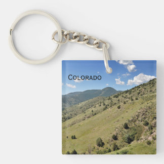 mountains in Morrison Colorado Keychain