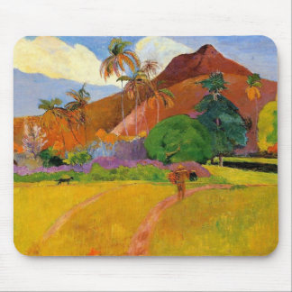 'Mountains in Tahiti' - Paul Gauguin Mousepad