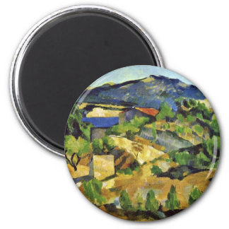Mountains In The French Provence By Paul Cézanne Magnet