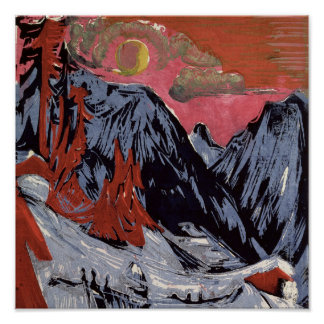 Mountains in Winter, 1919 Posters