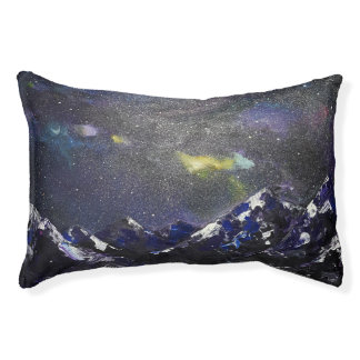 mountains ins the night pet bed