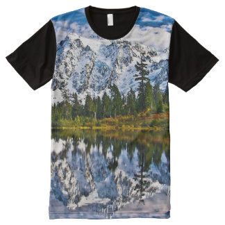 Mountains - Lake - Snow - Nature All-Over-Print T-Shirt