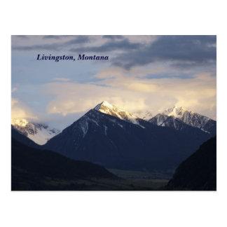 mountains, Livingston, Montana Postcard