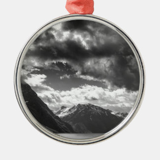 Mountains Metal Ornament