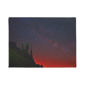 Mountains - Night Sky - Stars Doormat