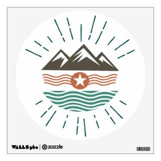 Mountains, Ocean & Sun Wall Sticker