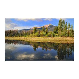 Mountains over Dillon Reservoir Canvas Print