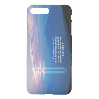 Mountains photo and cross. Psalm 121; 1-2 iPhone 7 Plus Case