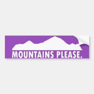 Mountains Please Bumper Sticker