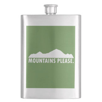 Mountains Please Hip Flask
