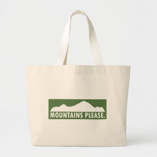 Mountains Please Large Tote Bag