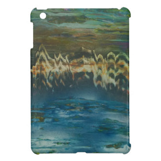 Mountains reflected in winter lake iPad mini cover