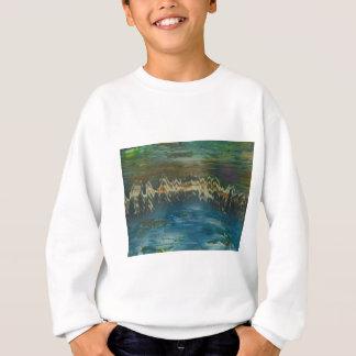 Mountains reflected in winter lake sweatshirt