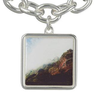 Mountains, Relaxing Nature Landscape Scene Bracelet