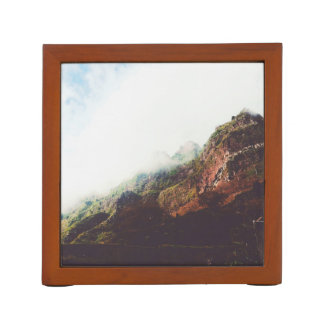 Mountains, Relaxing Nature Landscape Scene Desk Organizer