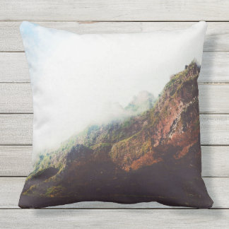Mountains, Relaxing Nature Landscape Scene Outdoor Pillow