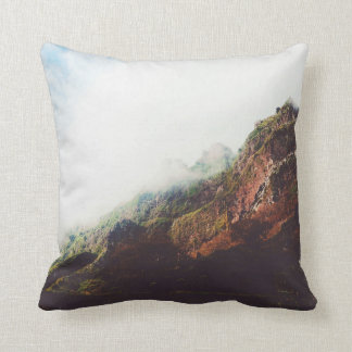 Mountains, Relaxing Nature Landscape Scene Throw Pillow