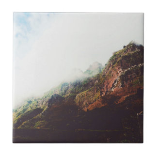 Mountains, Relaxing Nature Landscape Scene Tile